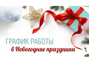 ВРЕМЯ РАБОТЫ В НОВОГОДНИЕ ПРАЗДНИКИ 2020 г.