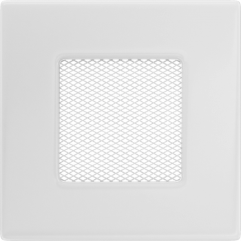 Вентиляционная решетка Kratki 11х11 белая стандарт