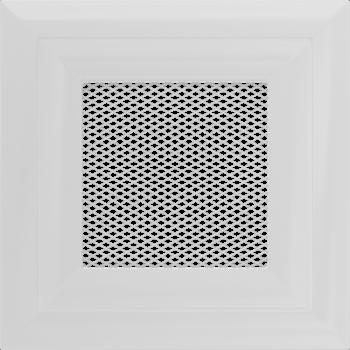 Вентиляционная решетка Kratki 11х11 Оскар белая стандарт