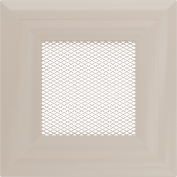 Вентиляционная решетка Kratki 11х11 Оскар бежевая стандарт