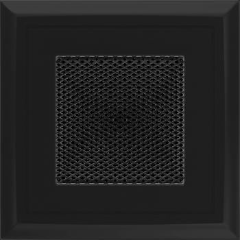 Вентиляционная решетка Kratki 11х11 Оскар черная стандарт