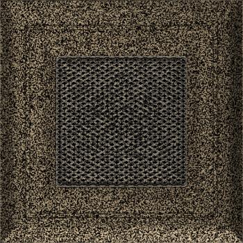 Вентиляционная решетка Kratki 11х11 Оскар черная/латунь пористая стандарт