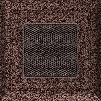 Вентиляционная решетка Kratki 11х11 Оскар черная/медь пористая стандарт