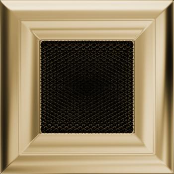 Вентиляционная решетка Kratki 11х11 Оскар латунь (гальванизированная)