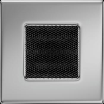 Вентиляционная решетка Kratki 11х11 никелированная (покрывная)